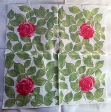 Decoupage Paper Art Napkin | Rose Solitaire
