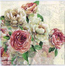 Decoupage Paper Art Napkin | Roses and Postmarks