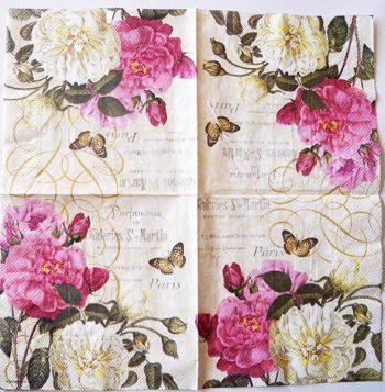 Decoupage Paper Art Napkin | More Paris Roses and a Perfumery