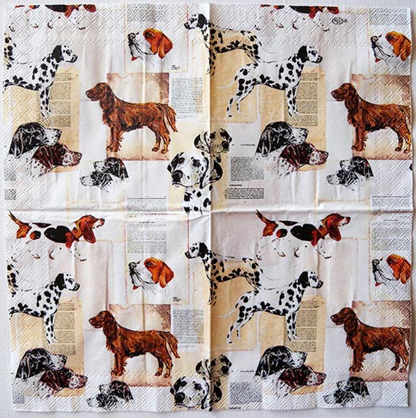 Decoupage Napkins Of Dogs Collection Chiarotino