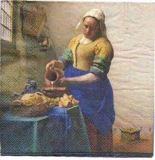 Paper Napkin | The Milkmaid by Vermeer