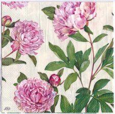 Decoupage Paper Art Napkin | Peonies in the Garden