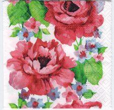 Decoupage Paper Art Napkin | Roses in Watercolor