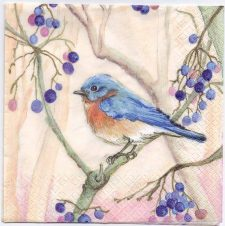 Decoupage Paper Napkins | Blue Bird in a Tree | Paper Napkins for Decoupage