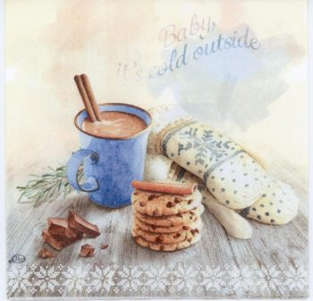 Paper Napkins Hot Chocolate Cookies