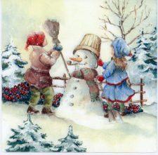 make snowman