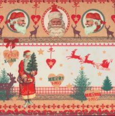 Decoupage Paper Napkins | Merry Christmas Santa Claus  | Christmas Napkins | Santa Napkins | Reindeer Napkins | Paper Napkins for Decoupage