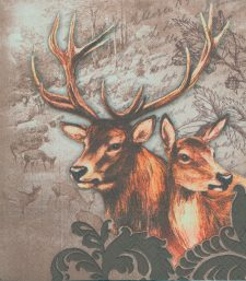 Decoupage Paper Napkins |  Stag and Doe in Winter Snow | Wildlife Napkins | Winter Napkins | Deer Napkins | Paper Napkins for Decoupage