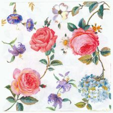 4 Decoupage Paper Napkins | Red Roses of Grace  | Floral Napkins | Rose Napkins | Summer Napkins | Paper Napkins for Decoupage