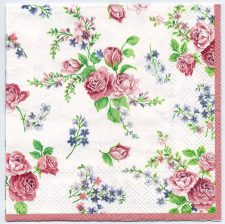 Decoupage Paper Napkins | Roses on White  | Paper Napkins for Decoupage