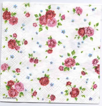 Paper Napkin   A Multitude of Roses