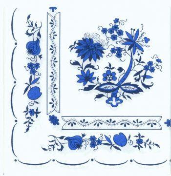 Decoupage Paper Napkins | Zwiebelmuster(Blue Onion) Porcelain Pattern  | Zwiebelmuster Napkins | Paper Napkins for Decoupage