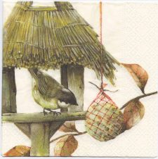 Decoupage Paper Napkins | Bird in Her Birdhouse | Paper Napkins for Decoupage