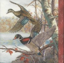 Decoupage Paper Napkins | Wild Ducks in Flight | Wildlife Napkins | Bird Napkins | Duck Napkins Nature Napkins Paper Napkins for Decoupage