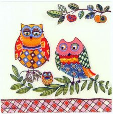 Decoupage Paper Napkins | Owl Family  | Bird Napkins | Summer Napkins | Kids Napkins | Paper Napkins for Decoupage