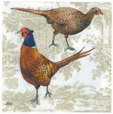 Decoupage Paper Napkins | Pheasant Cock and Hen | Bird Napkins | Wildlife Napkins | Pheasant Napkins | Paper Napkins for Decoupage
