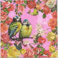 Decoupage Paper Napkins | Birds Roses Butterflies | Paper Napkins for Decoupage