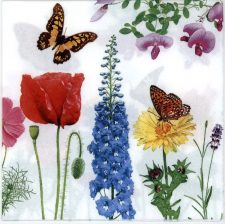 Decoupage Paper Napkins |  Butterflies with Flowers | Paper Napkins for Decoupage
