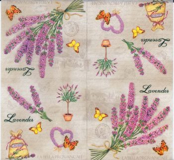 Decoupage Paper Napkins French Lavender Flower Summer Garden Butterfly in Provence Summer Napkins Party Napkins Paper Napkins for Decoupage