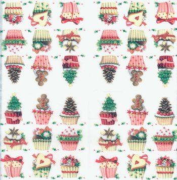 Decoupage Paper Napkins | Christmas Cupcakes Muffins Sweets | Christmas Napkins | Cupcake Party Napkins Paper Napkins for Decoupage