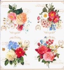 Decoupage Paper Napkins | Floral Bouquet Rose Butterfly Bee | Rose Napkins | Bee Napkins | Paper Napkins for Decoupage