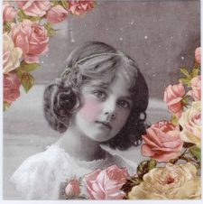 Event Paper Napkins Vintage Roses and Girl