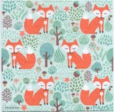 Decoupage Paper Napkins | Fox in the Forest | Paper Napkins for Decoupage