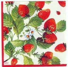 Decoupage Paper Napkins | Fresh Red Strawberries  | Strawberry Napkins | Summer Napkins | Garden Napkins | Paper Napkins for Decoupage