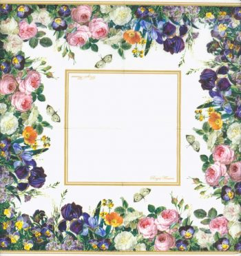 Decoupage Paper Napkins | Royal German Roses and Butterflies | Rose Napkins | Floral Napkins | Paper Napkins for Decoupage