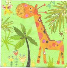 Decoupage Paper Napkins | Giraffe and Butterfly | Party Napkins  | Paper Napkins for Decoupage