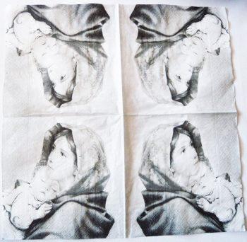 Decoupage Paper Art Napkin   Madonna and Jesus   Confirmation Napkins    Paper Napkins for Decoupage