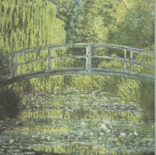 Impressionist Decoupage Paper Napkins | Monet's Bridge over Water Lily Pond  | Art Napkins | Flower Napkins | Paper Napkins for Decoupage