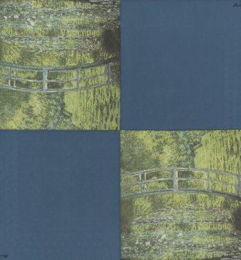 Impressionist Decoupage Paper Napkins | Monet's Bridge over Water Lily Pond  | Art Napkins | Flower Napkins | Paper Napkins for Decoupage