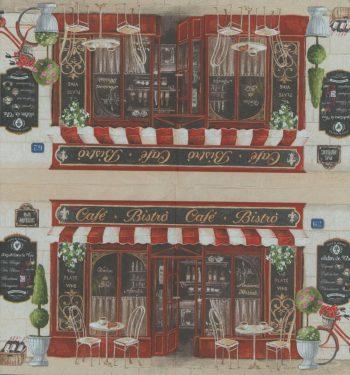 Decoupage Paper Napkins | Paris Bistro French Cafe Salon de The Bicycle  | Paris Napkins | Travel Napkins | Paper Napkins for Decoupage