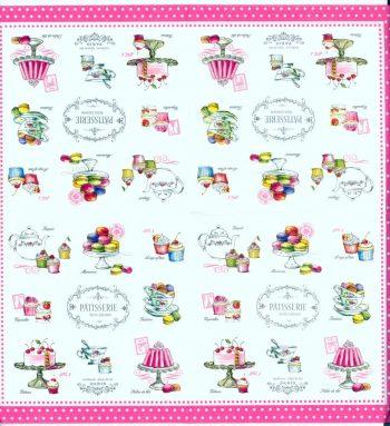 Decoupage Paper Napkins | Paris Patisserie Pastries Cupcakes Cake Sweets | Party Napkins | Summer Napkins | Paper Napkins for Decoupage