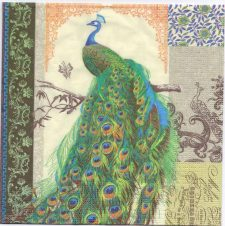 Decoupage Paper Napkins | Regnant Peacock | Design Napkins  | Paper Napkins for Decoupage