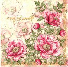Decoupage Napkins | Peony Napkins | Pink Peonies | Paper Napkins for Decoupage