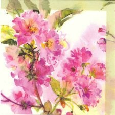 Decoupage Napkins | Flower Napkins | Watercolor of Spring Cherry Blossoms | Paper Napkins for Decoupage