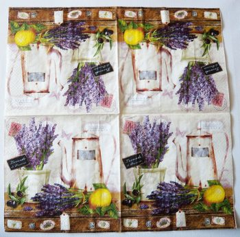 Decoupage Paper Napkins   French Cafe in Provence with Lavender   Paper Napkins for Decoupage