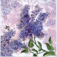 Wedding Napkins | Lilacs and Butterflies