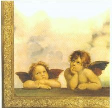 Decoupage Paper Napkins | Raphael's Angels Sistine Madonna Cherubim  | Art Napkins | Lunch Napkins | Paper Napkins for Decoupage