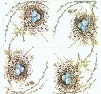 Decoupage Paper Napkins | Robin Bird Nest with Eggs | Summer Napkins | Lunch Napkins | Party Napkins | Paper Napkins for Decoupage