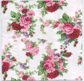 Paper Napkins Winsome Red & Pink Roses