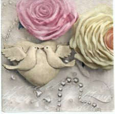 Decoupage Paper Napkins | Roses and Doves | Paper Napkins for Decoupage