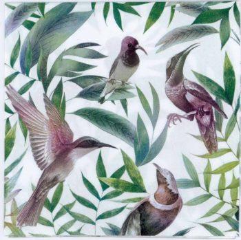 Paper Napkins Tropical Birds Hummingbird