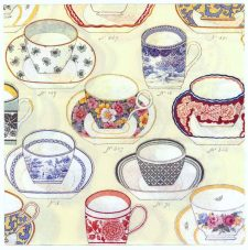 Decoupage Paper Napkins | Tea Cup Collection  | Tea Party Napkins | Lunch Napkins | Paper Napkins for Decoupage