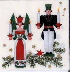 Decoupage Paper Napkins | Vintage Erzgebirgs German Christmas Ornaments  | Paper Napkins for Decoupage
