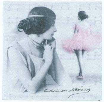 Decoupage Paper Napkins | Vintage Photos of La Belle Epoque French Dancer Cleo De Merode  | Paper Napkins for Decoupage | Dance Napkins