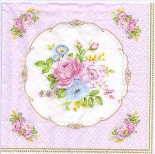Decoupage Paper Napkins | Vintage Rose Bouquet | Paper Napkins for Decoupage