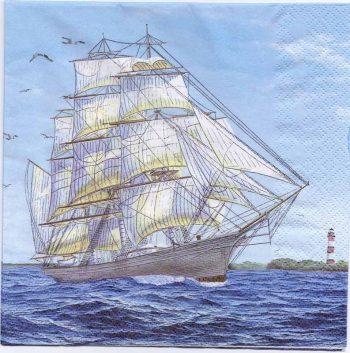 Decoupage Paper Napkins   Vintage Tall Sailing Ship at Sea   Paper Napkins for Decoupage